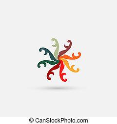abstratos, ícone