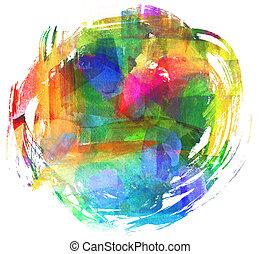 abstratos, óleo, painting., blot., obscurecido, spot.,...