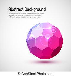 abstratos, 3-dimensional, fundo