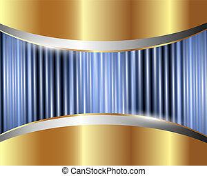 abstratos, 3, fundo, metálico
