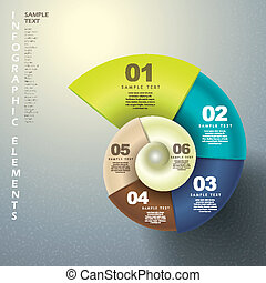 abstratos, 3d, espiral, infographics