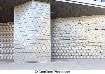 abstratos, 3d, ilustração, arquitetônico, padrão