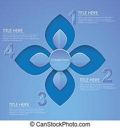 abstratos, 3d, papel, infographics