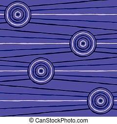abstratos, aboriginal, vetorial, linha, quadro, format.