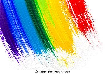 abstratos, acrílico, cores