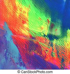 abstratos, acrílico, pintado, fundo
