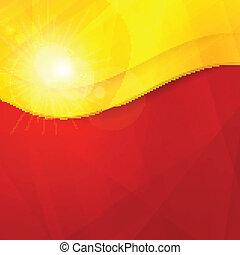 abstratos, amarela, desenho, t, laranja, vermelho