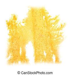 abstratos, amarela, insulto, aquarela, desenho, fundo, seu