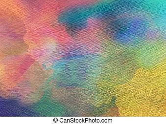 abstratos, aquarela, experiência.
