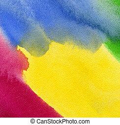 abstratos, aquarela, pintado