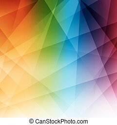 abstratos, arco íris, experiência., modernos, pattern.