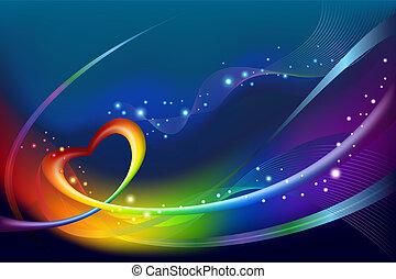 abstratos, arco íris, fundo