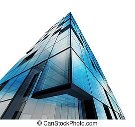 abstratos, arquitetura, branca, isolado