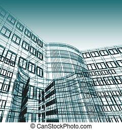 abstratos, arquitetura moderna