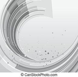 abstratos, arredondado, cinzento, fundo