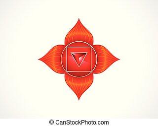 abstratos, artisticos, chakra, vermelho, raiz