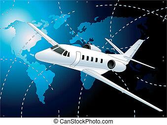 abstratos, avião, fundo