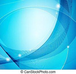 abstratos, azul, brilhante, vetorial, modelo, fundo