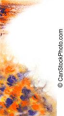 abstratos, azul, laranja, luxuoso, grande, papel parede, aquarela, blurs., background:, vindima, mão, desenhado, desenho, texturas