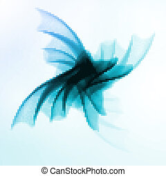 abstratos, azul, onda, fundo