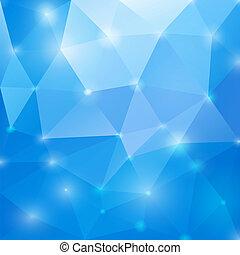 abstratos, azul, polygonal, experiência., vetorial, eps10.