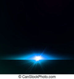 abstratos, azul, star., vetorial