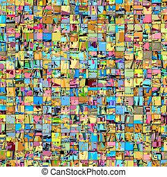 abstratos, azulejo, mosaico, fundo, em, múltiplo, cor