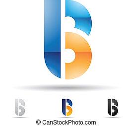 abstratos, b, letra, ícone