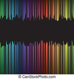 abstratos, bacground, com, arco íris, vetorial, ilustração