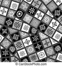 abstratos, background.eps, pretas, arabescos, africano, branca