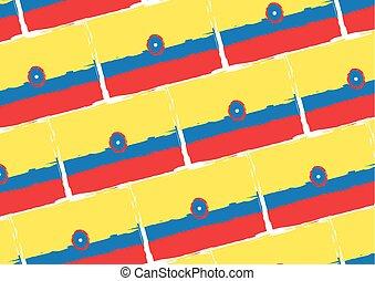 abstratos, bandeira, bandeira, colômbia, ou