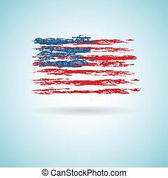 abstratos, bandeira, de, nós