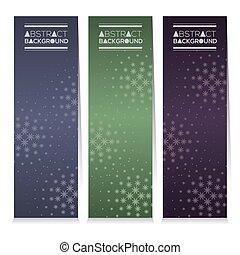 abstratos, bandeiras verticais