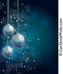 abstratos, beleza, natal ano novo, experiência., vetorial, ilustração