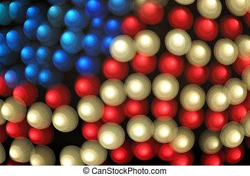 abstratos, bokeh, bandeira americana, fundo
