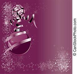 abstratos, bolas, xmas, ilustração, violeta