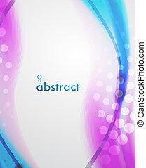 abstratos, borrão, onda, vetorial, fundo