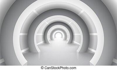 abstratos, branca, arquitetura, construção