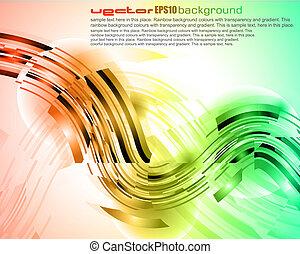 abstratos, brilho, de, luzes, com, brilhante, cores