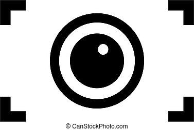 abstratos, câmera, ícone