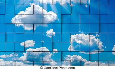 abstratos, céu, conceito