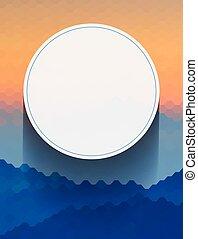 abstratos, círculo branco, fundo