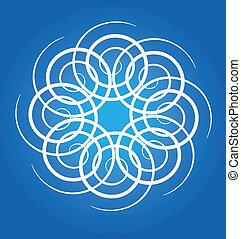 abstratos, círculos, fundo