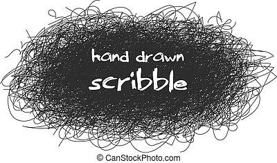 abstratos, caótico, redondo, esboço, para, seu, desenho