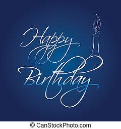 abstratos, cartão aniversário, feliz