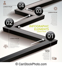 abstratos, carta fluxo, infographics
