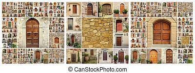 abstratos, casa, colagem