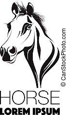 abstratos, cavalos, cabeça