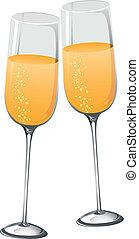 abstratos, champanhe