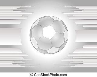 abstratos, cinzento, bola futebol, backgroun